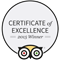 Trip Advisor's Certificate Of Excellence 2015